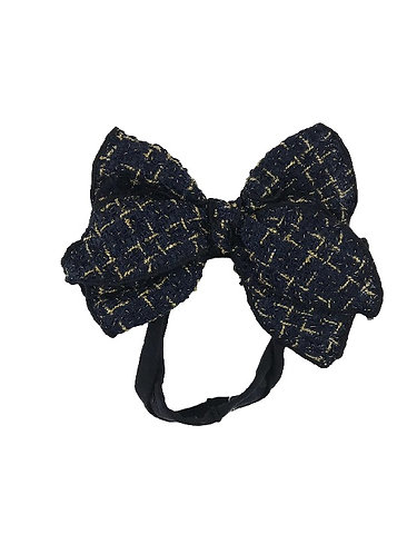 Navy Tweed Bow