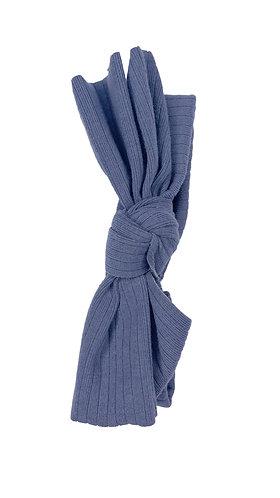 Denim Blue Ribbed Bow