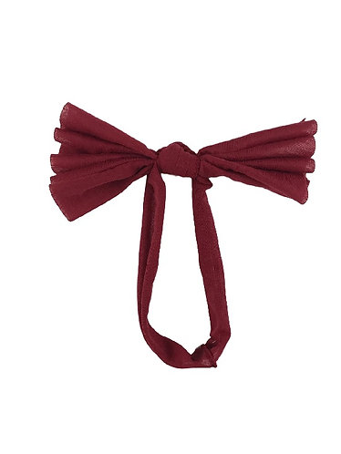Deep Red Floppy Bow
