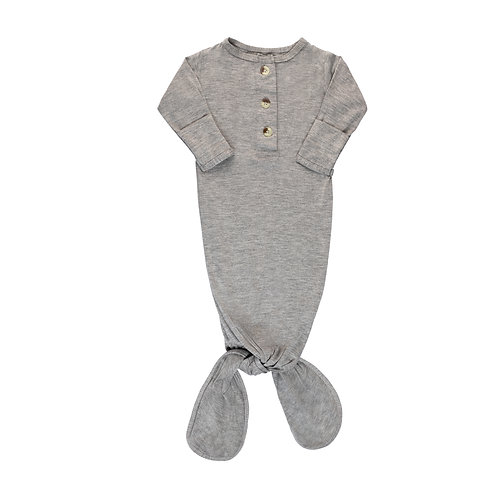 Newborn Knotted Gown - Gray
