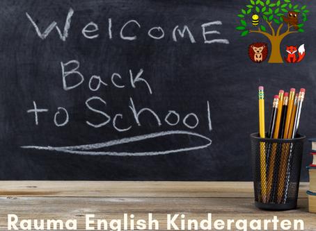 Welcome back to the Kindergarten
