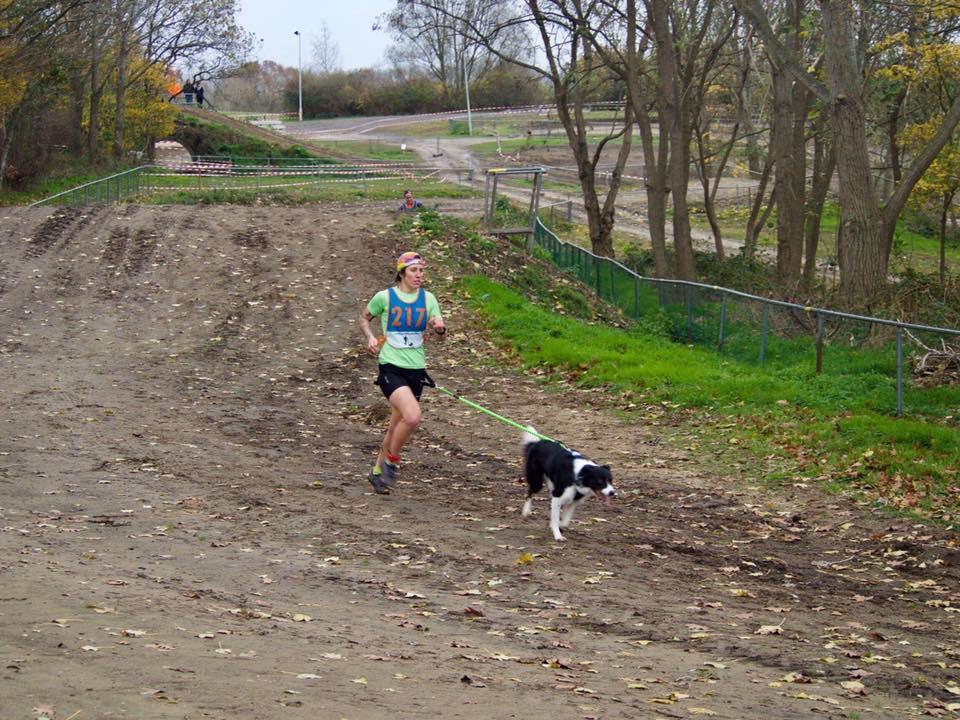 Bijna bij de finish met Jackie!