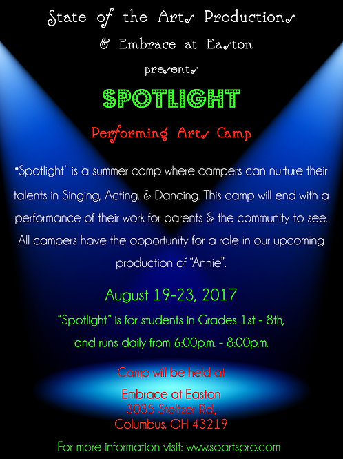 SPOTLIGHT CAMP ONE CHILD