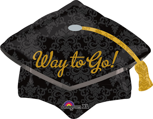 18 Inch Way To Go Grad Cap Jr Shape Balloon.jpg