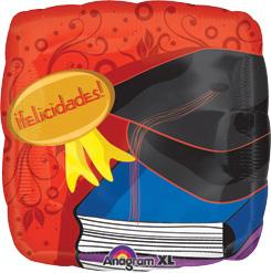 """18"""" Std Felicidades Grad Balloon"""