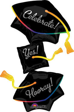 37 Inch Grad Cap Stacker Balloon