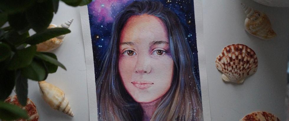 Космический портрет девушки