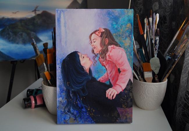 Портрет мамы и ребенка
