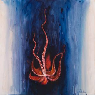 Полет красного осьминога