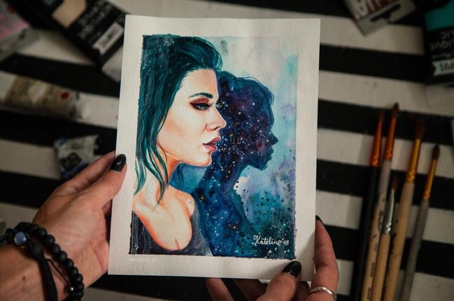 портрет по фото на бумаге