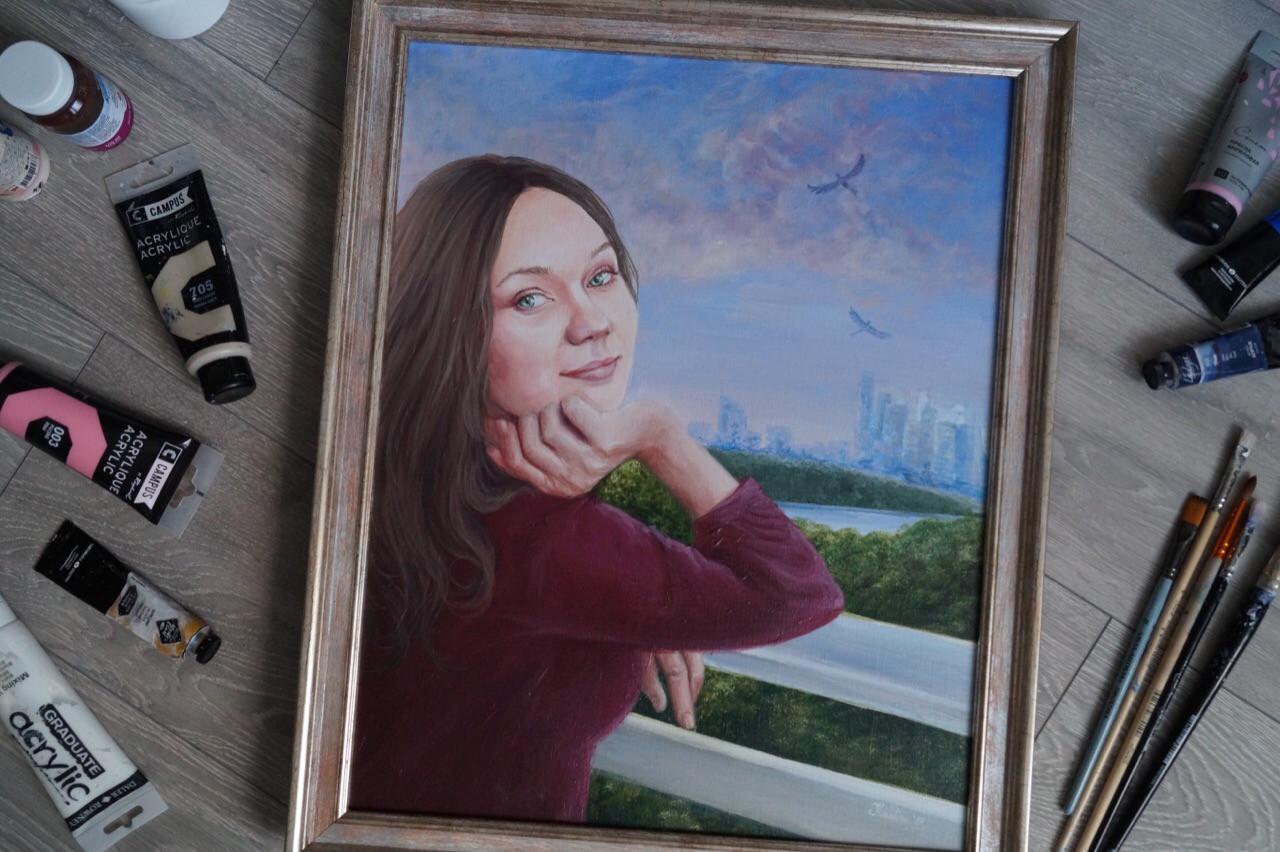 Портрет девушки Москва
