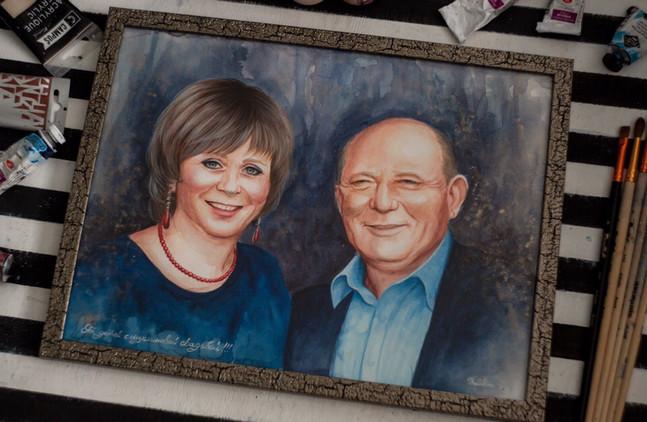 Портрет родителям на юбилей свадьбы