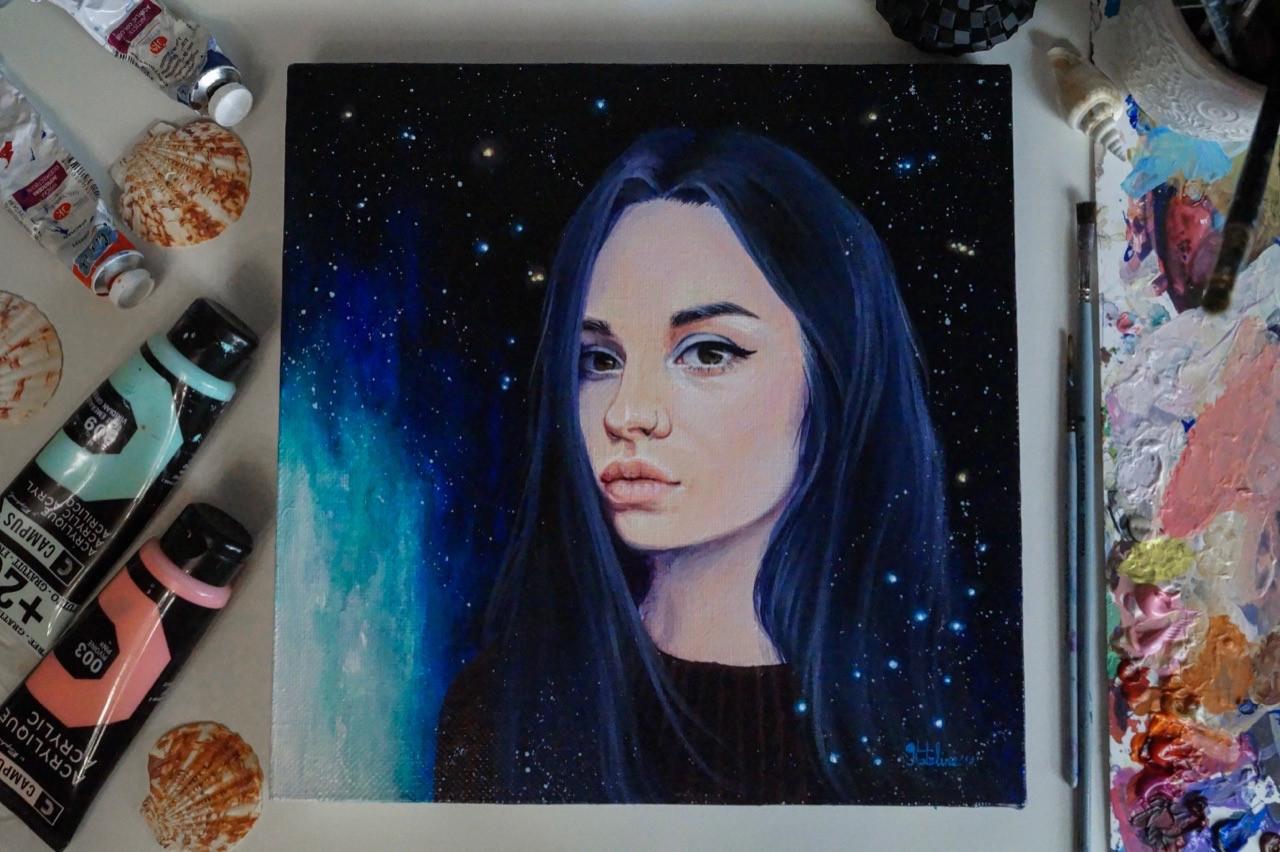 Портрет для девушки с созвездием девы