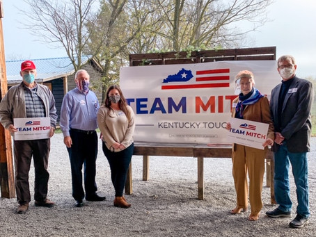 Mitch McConnell Rally at the Twin Lakes Barn