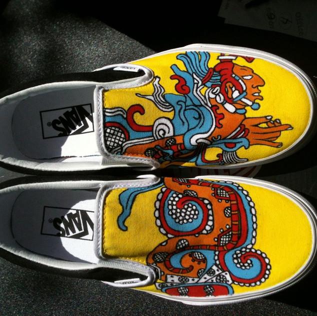 Mayan Vision Serpent Shoes