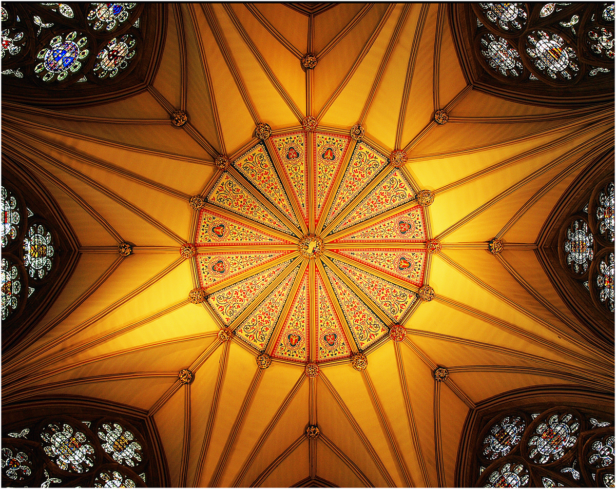 Chapter House ceiling York Cathedral 2