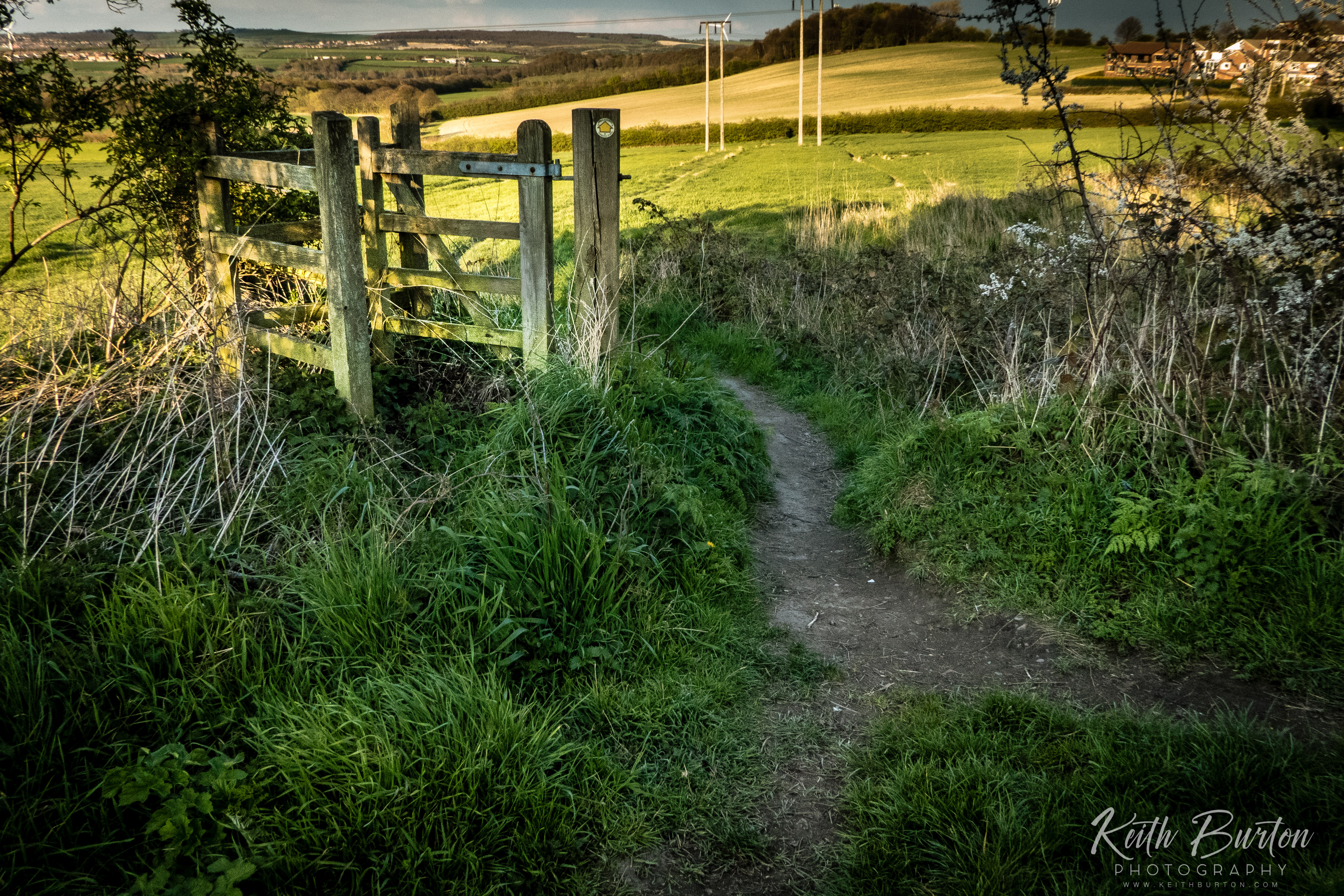 The gate to Mucky Lane