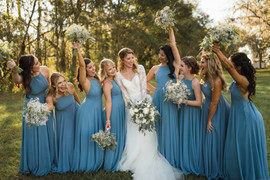 Bridesmaids at Clark Plantation in Newberry, FL