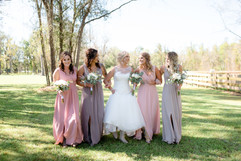 Bridesmaids at Belle Oaks Barn
