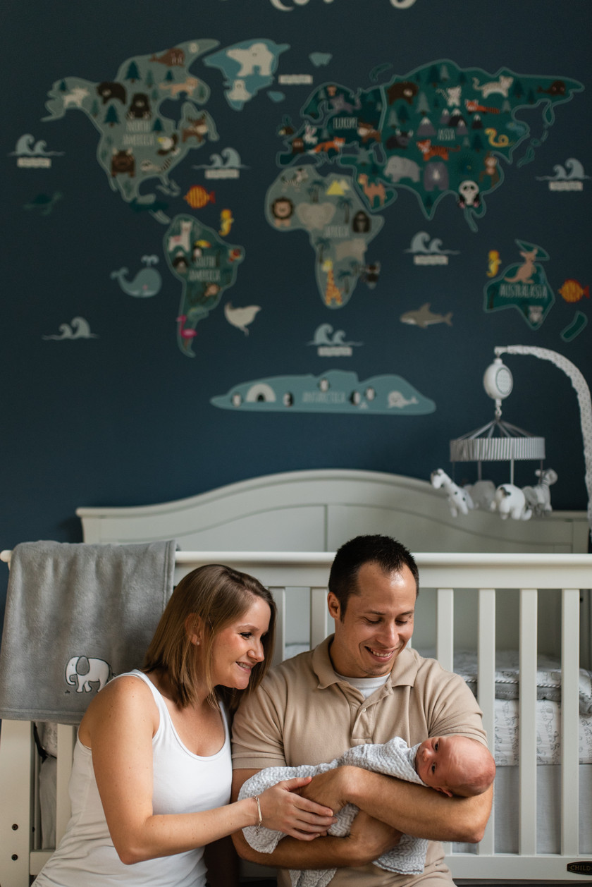 Lifestyle Newborn Session | Gainesville Lifestyle Photographer | CWP Photography