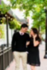 Couple in downtown Gainesville for engagement session