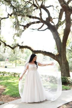Bridal Twirl at Baughman Center Wedding