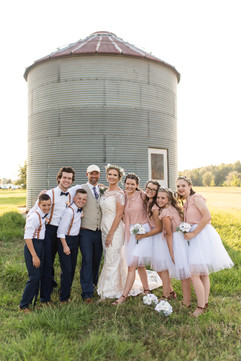 Bridal Party at C Bar Ranch