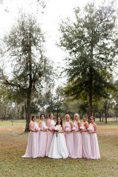Bridesmaid posing at Williston Wedding