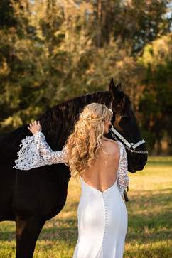 Bridal Portrait at C Bar Ranch