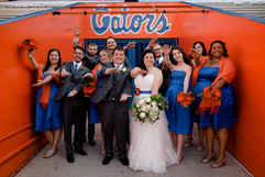 Bridal Party at Ben Hill Griffin Stadium