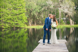 Bride & Groom at Southern Pines Venue in Lake City FL