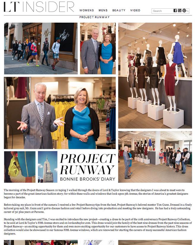 Project Runway: Bonnie Brooks' Diary