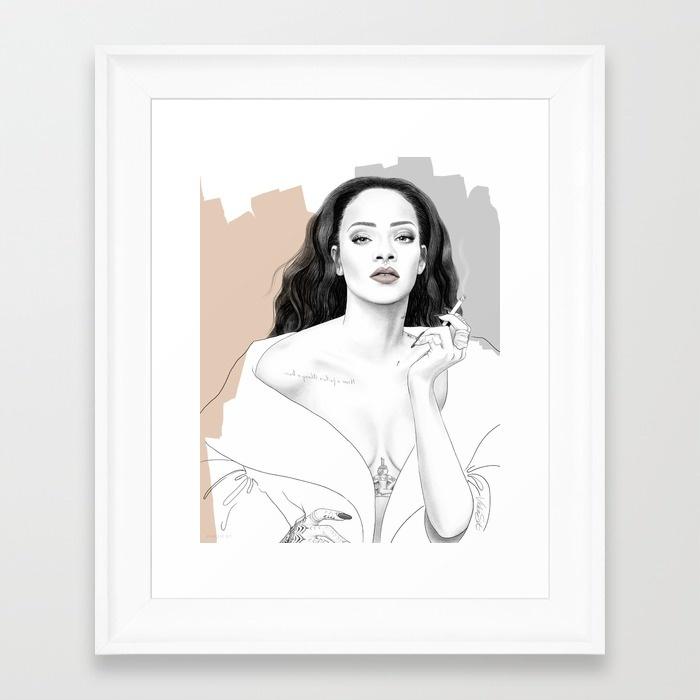 rihanna-lzz-framed-prints