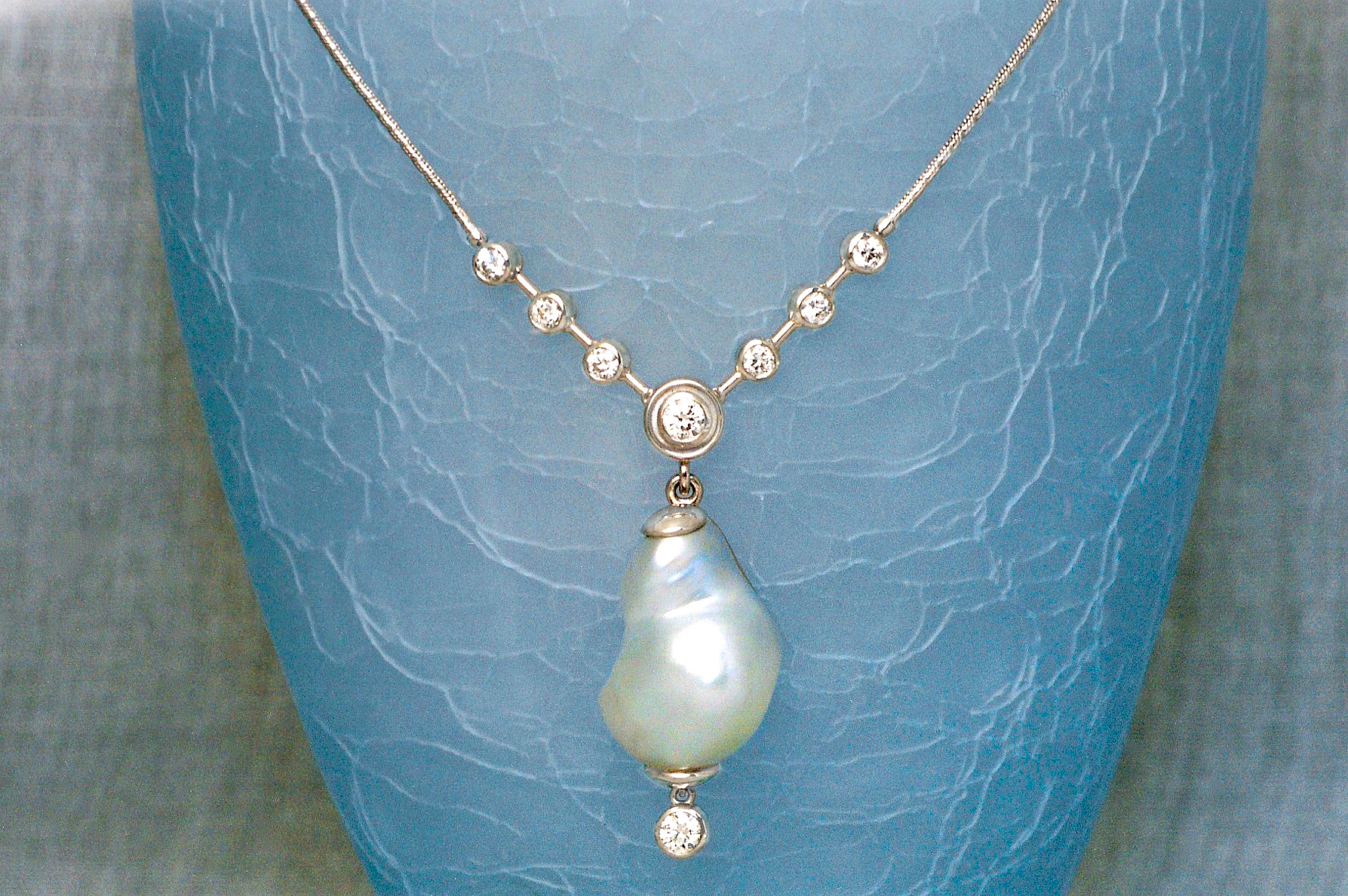 Natural South Sea Pearl & Diamond