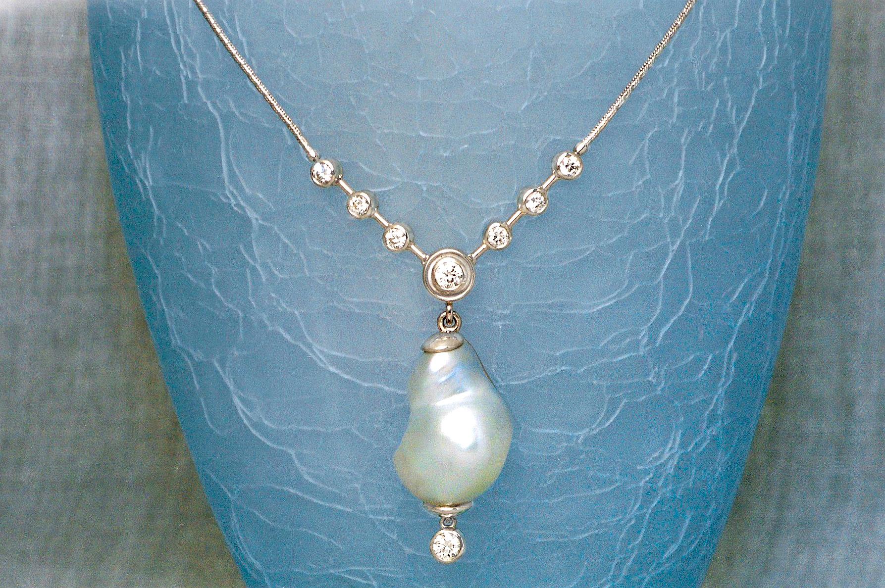 Natural South Sea Pearl & Diamond