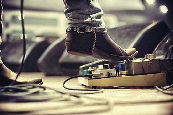 Guitar Pedal recording session