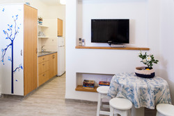 Kitchenette and seating area