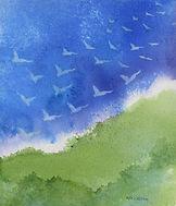 Vikstrom_Rising_watercolor_22x18 framed_