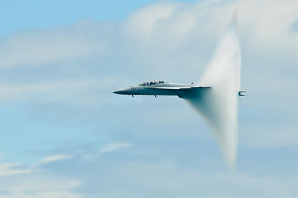 Military plane sound barier.  Military p