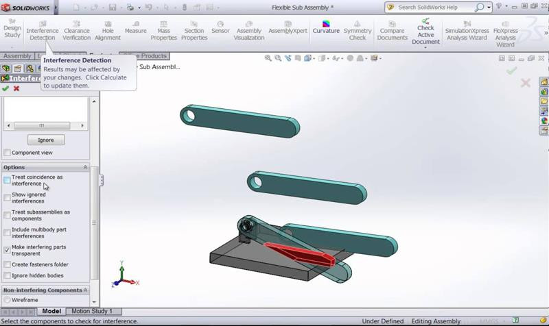 Verificação interferência CAD 3D