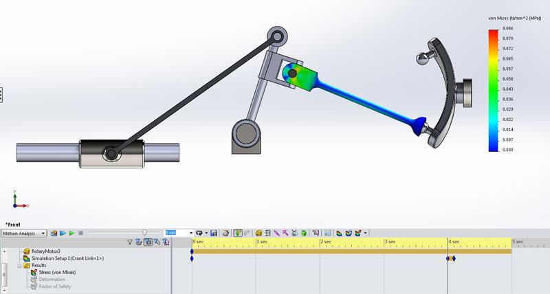 Simulação Movimento CAD 3D
