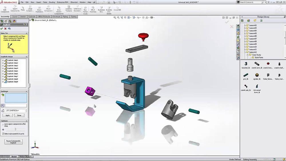 Vista explodida CAD 3D