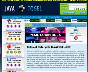 Jayatogel.com adalah situs resmi togel online terbaik terpercaya yang menyediakan layanan tebak nomor terlengkap
