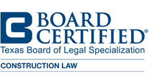 Jeff Rusthoven Receives Certification in Construction Law from the Texas Board of Legal Specializati