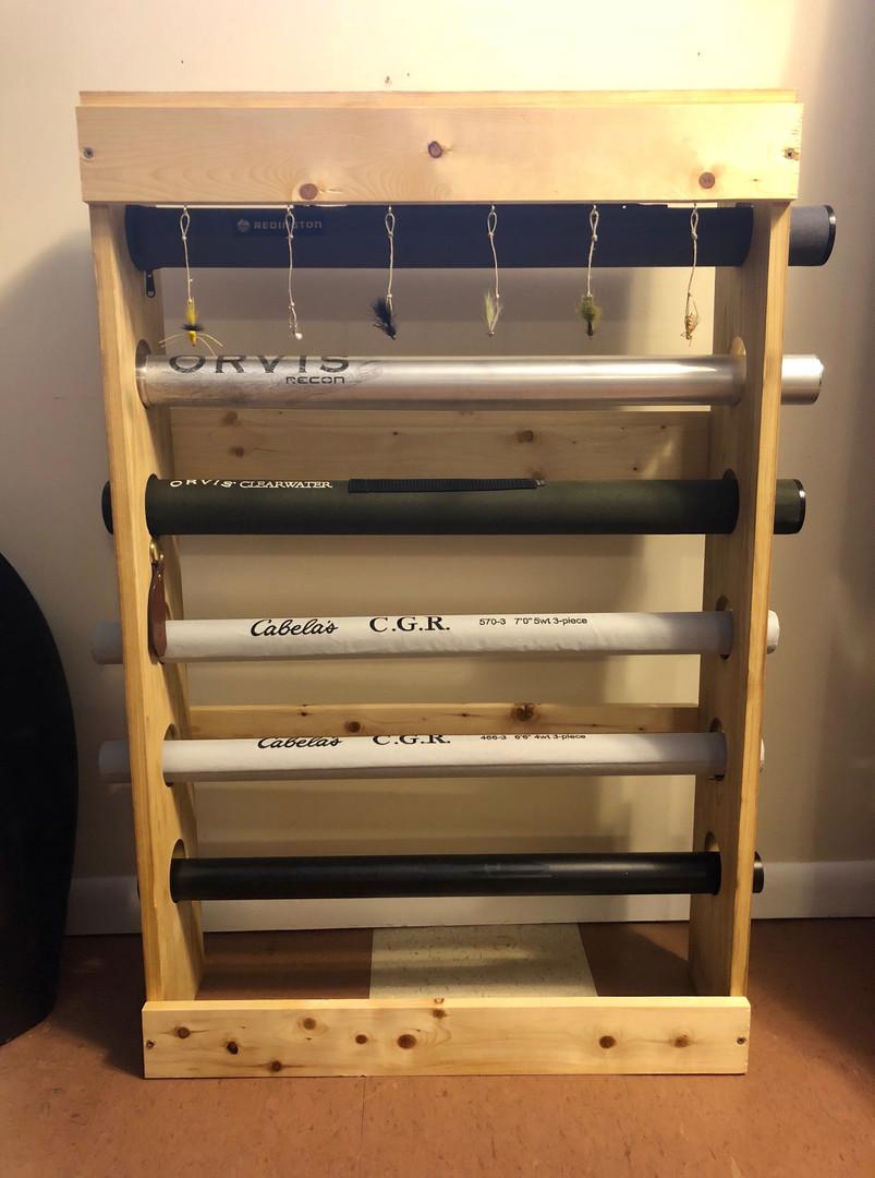 Fly Rod Storage Rack