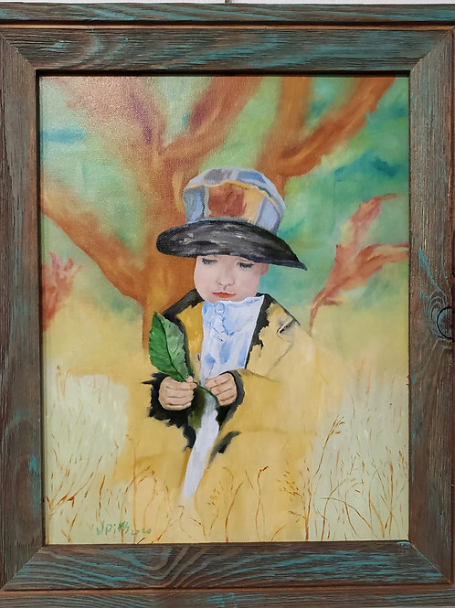 Ragamuffin - Oil painting by Wanda Pitts