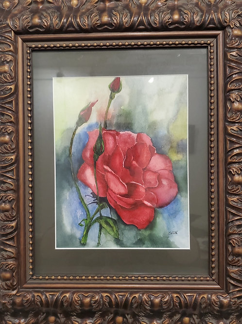 Fragrance , a Watercolor Painting by Christine A Hendrix