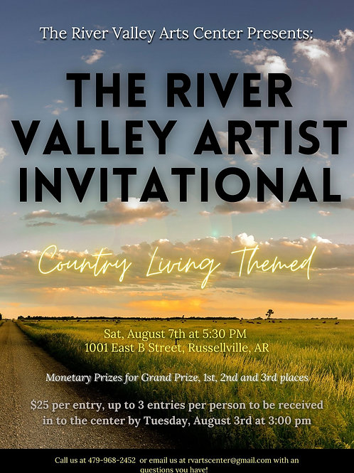 River Valley Artist Invitational Fee per piece
