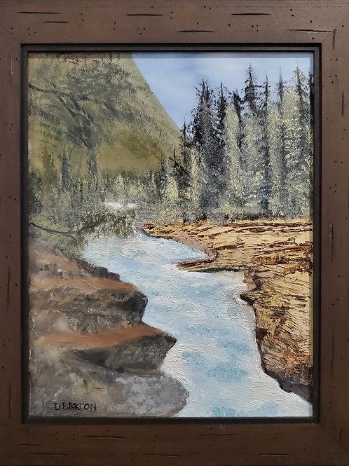 Mountain Stream Oil Painting by Dennis Barton