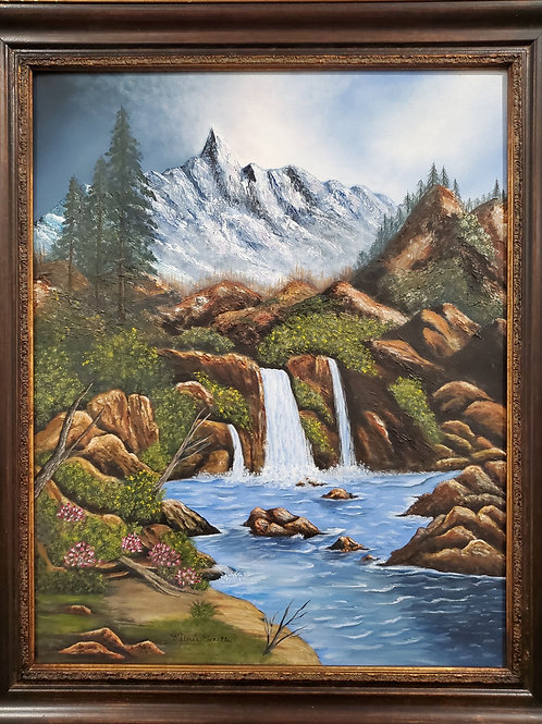 The Falls , an Oil Painting  by Valerie Smith